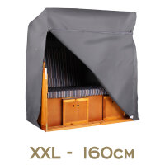 Strandkorb Schutzhülle Aero Protect Größe XXL 160 cm Breite Dunkelgrau